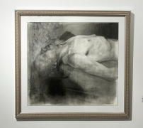 "David Bondar, ""Untitled"", Charcoal on paper, 2012"