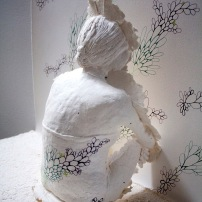 "Deborah Baldizar, ""Wall Flower"", detail"