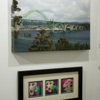"Michele Kosboth, ""Aquilegia"" & ""Yachina Bay Bridge"", photography"