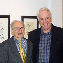 Hans Guggenheim with the president of Lasell College, Michael Alexander