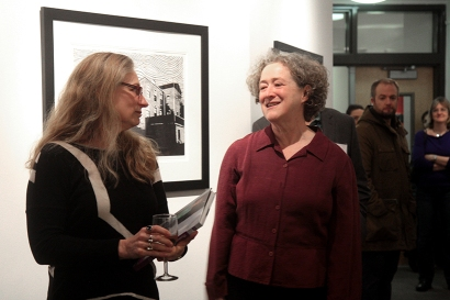 Carolyn Muskat and artist Abigail Norman.